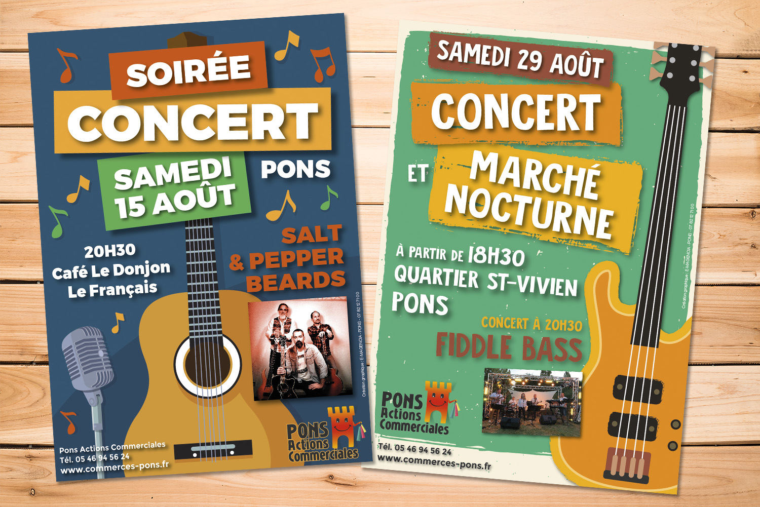 E-magencia - portfolio - Flyers affiches Concerts Pons actions Commerciales