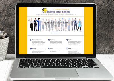 E-magencia - portfolio - site -Charentes Innov Emplois