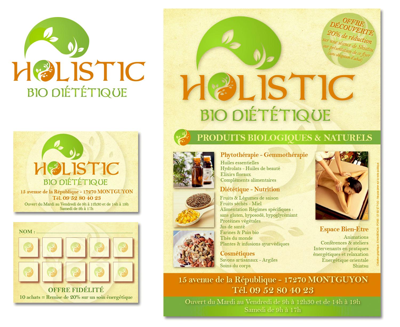 Holistic Bio Diététique - E-magencia graphiste - Flyer - Carte de fidélité