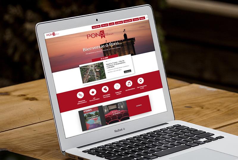 E-magencia - portfolio - site - Ville de Pons