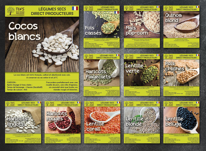 E-magencia - portfolio - Création graphique étiquettes trémie vente en vrac