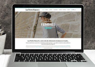 Petits Marcels - création site e-commerce - E-magencia