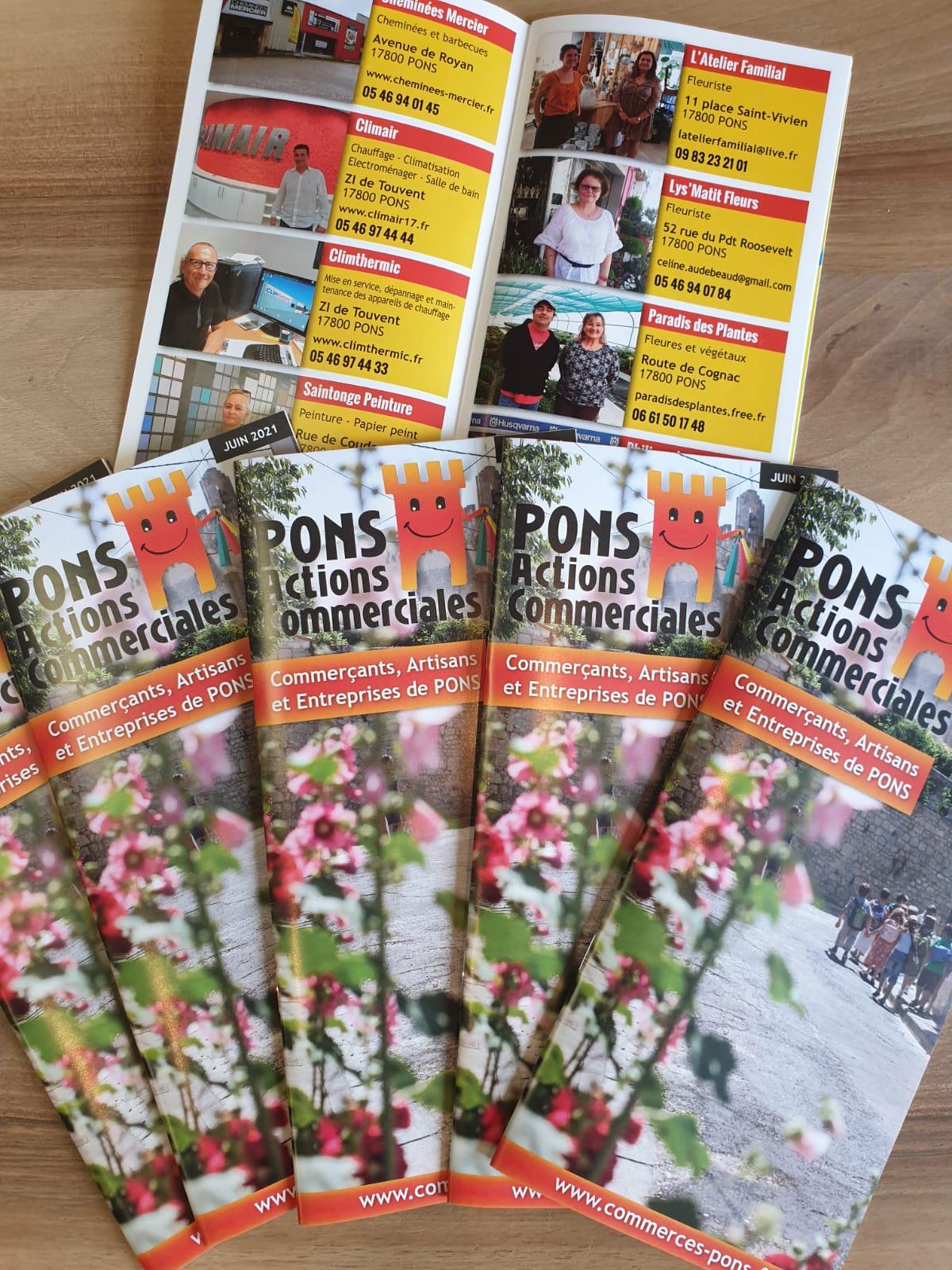 E-magencia - Création graphique brochure - Pons Actions Commerciales