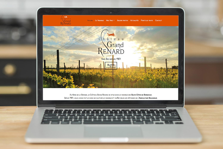Château Grand Renard - Création de site internet - E-magencia